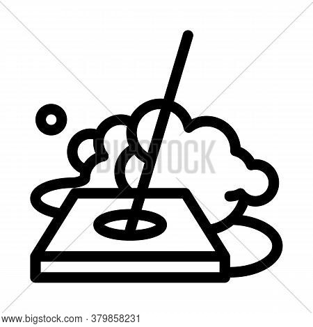 Drain Cleaning Icon Vector. Drain Cleaning Sign. Isolated Contour Symbol Illustration