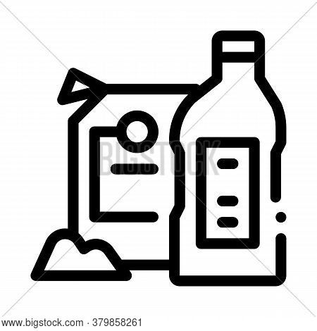 Drain Cleaning Agent Icon Vector. Drain Cleaning Agent Sign. Isolated Contour Symbol Illustration