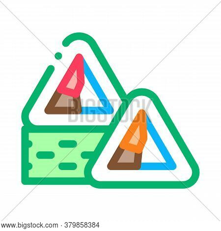 Sushi Roll Delicious Dish Icon Vector. Sushi Roll Delicious Dish Sign. Color Symbol Illustration
