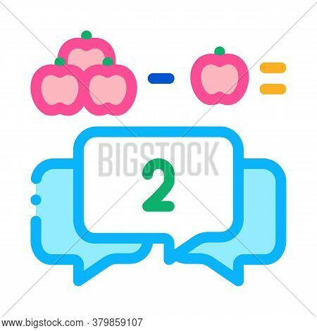 Preschool Education Mathematics Icon Vector. Preschool Education Mathematics Sign. Color Symbol Illu