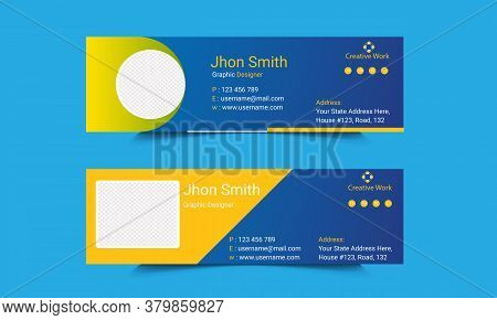 Creative Mail Signature Template Design.office Business Visit Cards For Webmail User Interface With