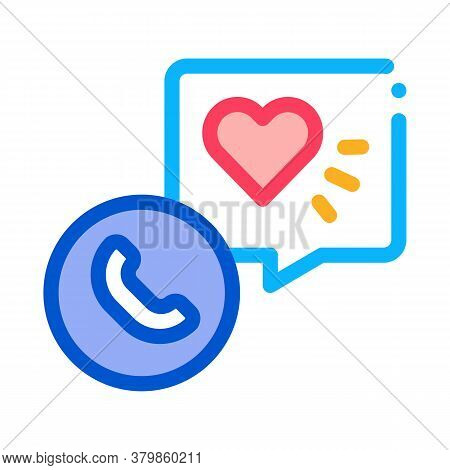 Hypertension Call Doctor Icon Vector. Hypertension Call Doctor Sign. Color Symbol Illustration