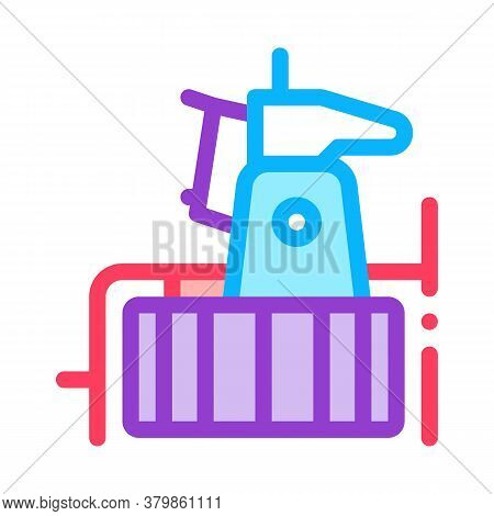 Drain Cleaning Instrument Icon Vector. Drain Cleaning Instrument Sign. Color Symbol Illustration