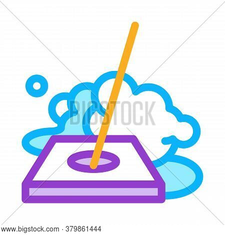Drain Cleaning Icon Vector. Drain Cleaning Sign. Color Symbol Illustration