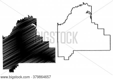 Scott County, Indiana (u.s. County, United States Of America, Usa, U.s., Us) Map Vector Illustration