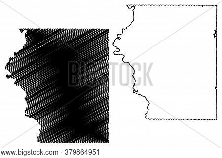 Sullivan County, Indiana (u.s. County, United States Of America, Usa, U.s., Us) Map Vector Illustrat