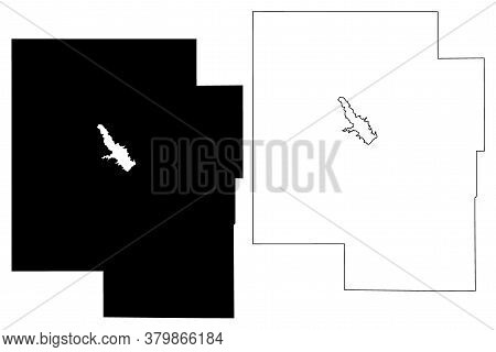 Marion County, Kansas (u.s. County, United States Of America, Usa, U.s., Us) Map Vector Illustration