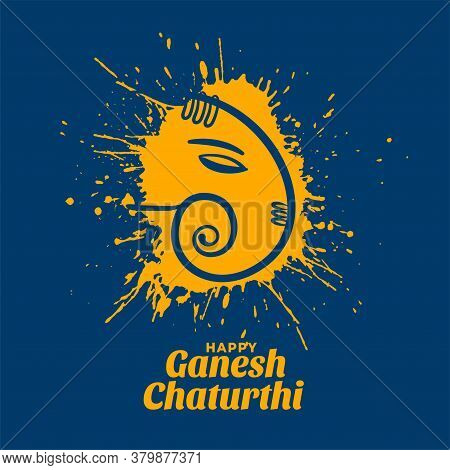 Creative Ganesh Chaturthi Festival Wishes Card Design