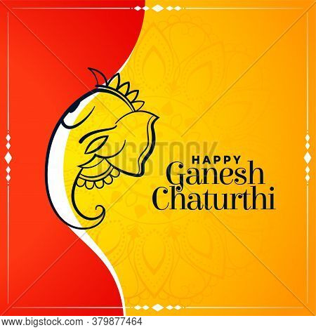 Creative Wishes Card For Ganesh Chaturthi Festival