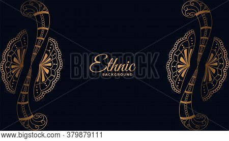 Ethnic Background With Decorative Floral Or Henna Design