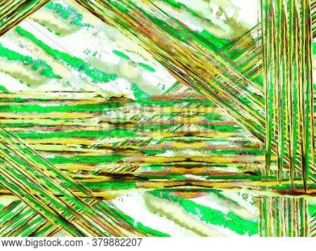 Watercolor Camouflage Design. Abstract Safari Tile. Zebra Skin Print. Stripes Seamless Pattern. Geom