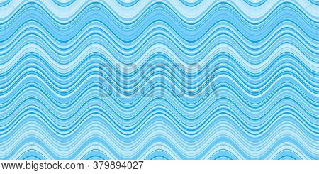Abstract Light Blue Vector Template With Geometric Bent Ribbons. Wry Lines In Marble Style. Textured