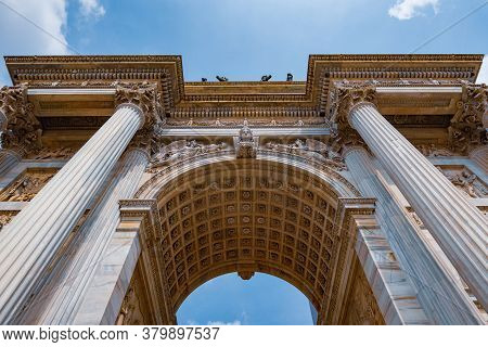 Arco Della Pace, Historical Monument Of The City Of Milan In Italy