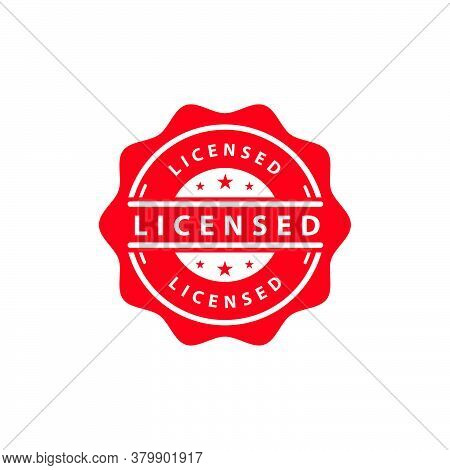 Licensed Seal Stamp Logo Icon Design For Business Element