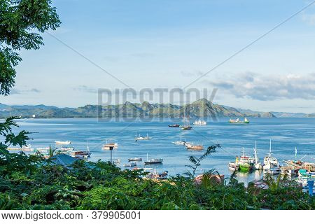 A View Over Labuan Bajo Harbour And Palua Karawo In Early Morning, Flores Indonesia