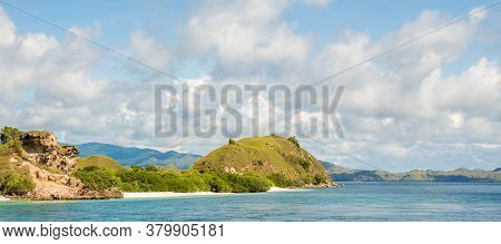 A Tropical Island In Komodo National Park Near Rinca Island, Flores, Indonesia