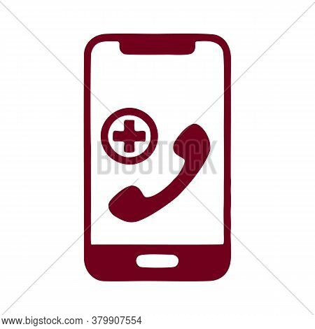 Telemedicine Icon. Simple Element From Digital Healthcare Collection. Filled Telemedicine Icon For T