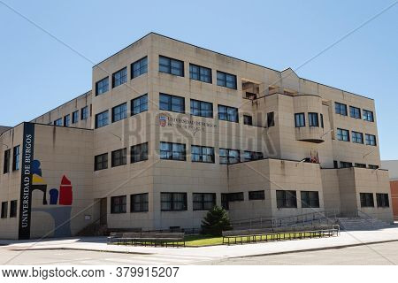 Burgos, Spain - August 05th - 2020: Building Of The Faculty Of Education Or Teaching Of The Universi