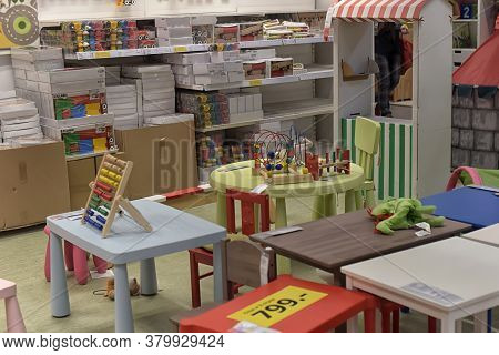 Russia, St.petersburg, 14,05,2015        A Sample Of The Interior In Ikea Store, Ikea Was Founded In