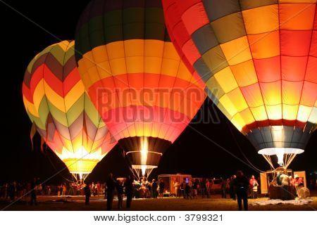 Hot Air Balloons Light Up The Dawn