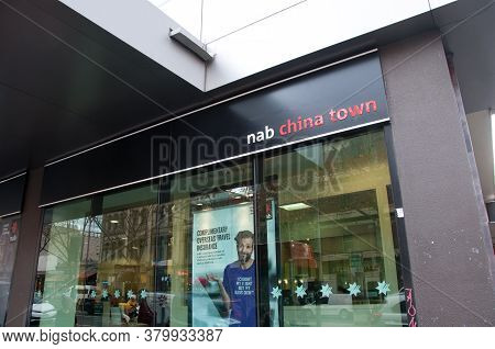 Melbourne, Australia - July 26, 2018: National Australia Bank (nab) Branch In China Town At Melbourn