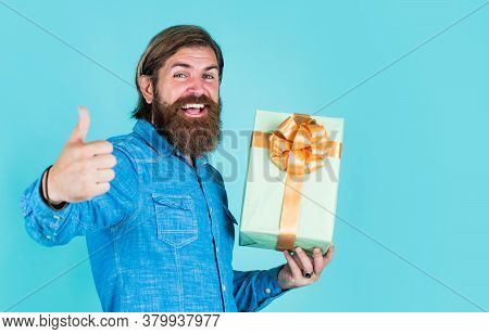 Enjoying Online Shopping. Commonly Used For Birthday. Buy Anniversary Gifts. Surprised Male Open Box