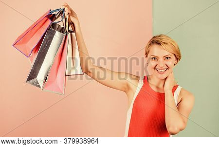 Shopping Therapy. Buy Gifts. Expert In Shopping. Woman On Shopping Tour. Discounts And Loyalty Progr