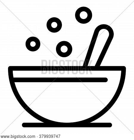 Meal Bowl Icon. Outline Meal Bowl Vector Icon For Web Design Isolated On White Background