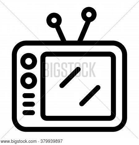 Tv Habit Icon. Outline Tv Habit Vector Icon For Web Design Isolated On White Background