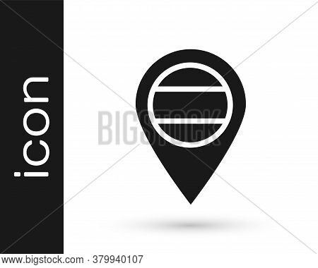 Black Location Russia Icon Isolated On White Background. Navigation, Pointer, Location, Map, Gps, Di