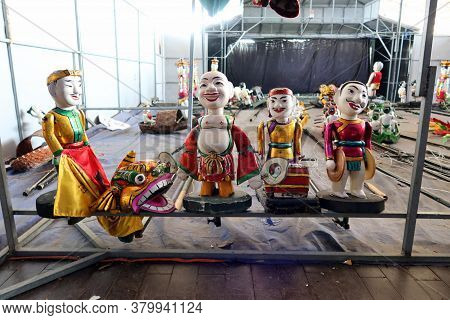 Hoi An, Vietnam, February 24, 2020: Backstage With Some Of The Puppets From The Hoi An Water Puppet