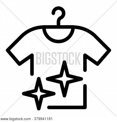 Hang Clean Shirt Icon. Outline Hang Clean Shirt Vector Icon For Web Design Isolated On White Backgro