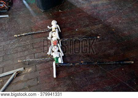 Hoi An, Vietnam, February 24, 2020: Water Puppet Handling System Of Hoi An Water Puppet Theater, Vie