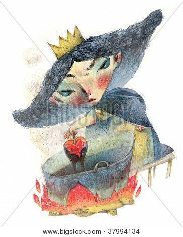 Queen holding apple