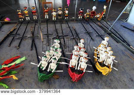Hoi An, Vietnam, February 24, 2020: Water Puppets From The Hoi An Water Puppet Theater, Vietnam. In