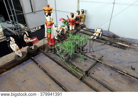Hoi An, Vietnam, February 24, 2020: Water Puppets From The Hoi An Water Puppet Theater, Vietnam With