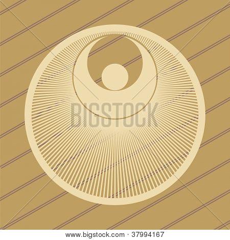 ufo crop circles design in wheat/corn fields poster