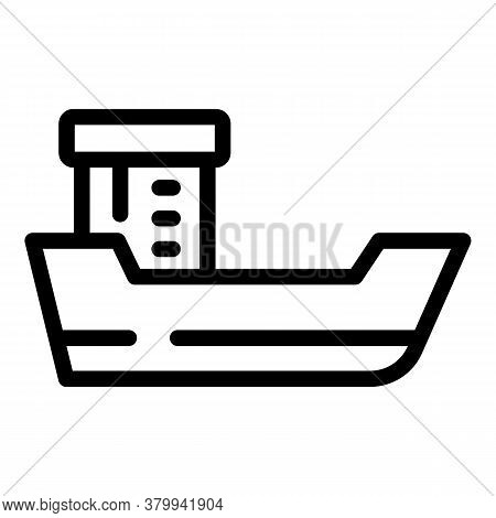 Bath Ship Icon. Outline Bath Ship Vector Icon For Web Design Isolated On White Background