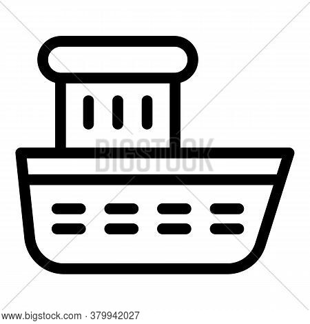 Bath Boat Toy Icon. Outline Bath Boat Toy Vector Icon For Web Design Isolated On White Background