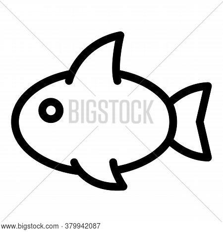 Shark Toy Icon. Outline Shark Toy Vector Icon For Web Design Isolated On White Background