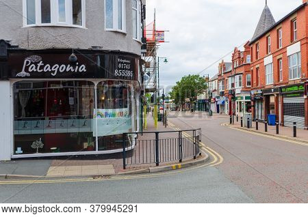 Prestatyn, Uk: Jul 06, 2020: A General View Of The High Street At Early Evening. The Patagonia Resta