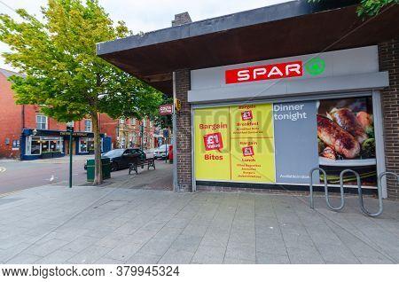 Prestatyn, Uk: Jul 06, 2020: The Prestatyn Branch Of Spar Convenience Stores Is Promoting Their Line
