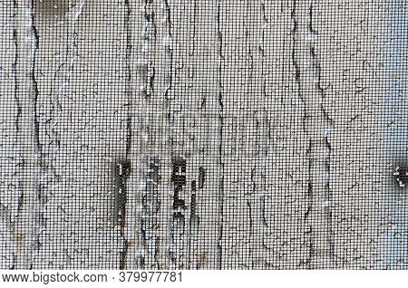 Freeze Rain,window Covered By Deep Ice