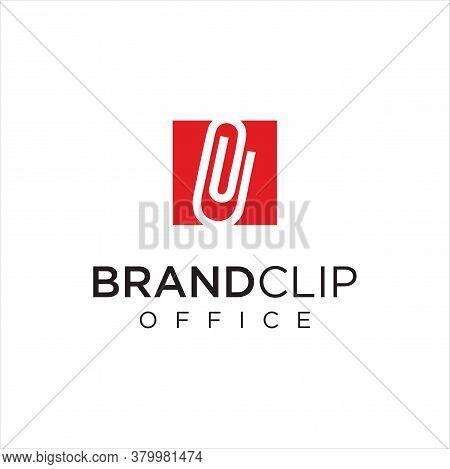 Square Clip Logo Logo Idea Icon Design Stock Vector. Monogram Paper Clips Logo Design Business Capit