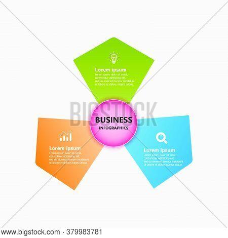 The Infographic Design Template For A Circular Diagram. Planning Design Presentation Business Infogr