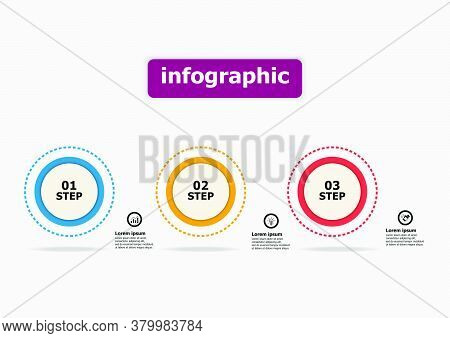 The Infographic Vector Design Template For The Circular Diagram. Planning Timeline Infographics Desi