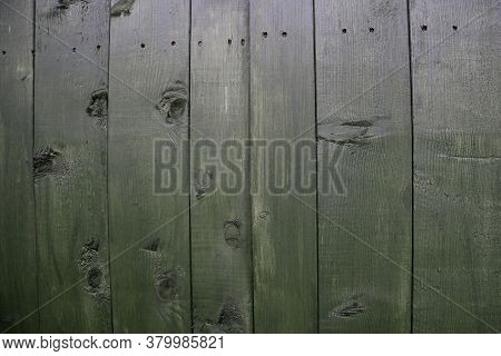 Close Up View Of Old Wooden Garden Shed Door