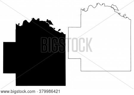 Wabaunsee County, Kansas (u.s. County, United States Of America, Usa, U.s., Us) Map Vector Illustrat