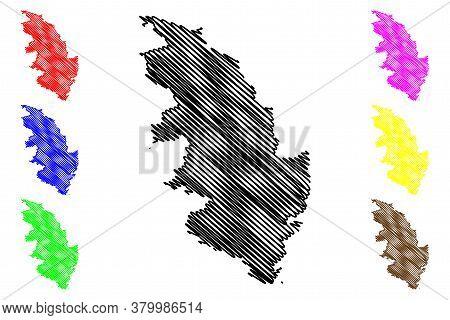 Corse-du-sud Department (france, French Republic, Corsica Or Corse Region, Island) Map Vector Illust