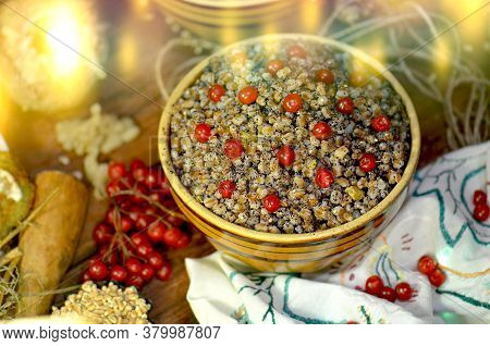 Traditional Christmas Dish Kutya In Poland And Ukraine.